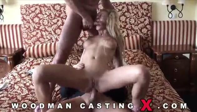 Худая блондинка Meg Laren на кастинге Вудмана