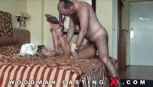 Худая блондинка Meg Laren на кастинге Вудмана - скриншот #12