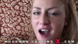 Худая блондинка Meg Laren на кастинге Вудмана - скриншот #18