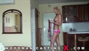 Худая блондинка Meg Laren на кастинге Вудмана - скриншот #2