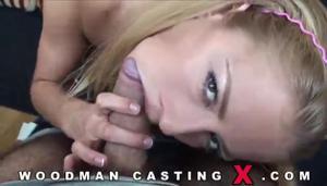 Худая блондинка Meg Laren на кастинге Вудмана - скриншот #3