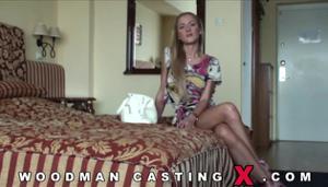 Худая блондинка Meg Laren на кастинге Вудмана - скриншот #6